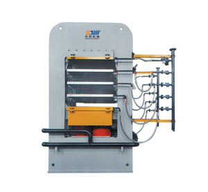 Wood press machine