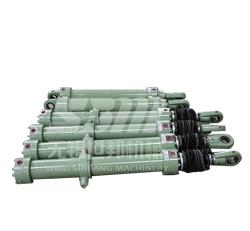 Hydraulic cylinder with valve block