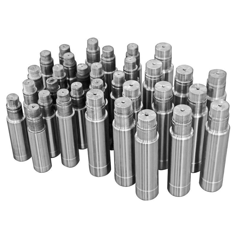以液压油缸为例,由:缸筒, 活塞杆(油缸杆),活塞,端盖几部分组成.图片